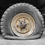 trapper trucks flat tire